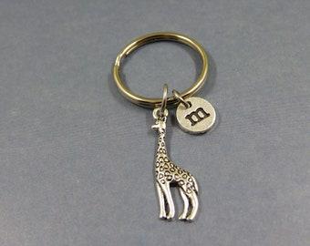 giraff keychain - giraff keyring - personalized giraff gift - alpaca wool - giraff jewel- animal lovers - porte clé girafe