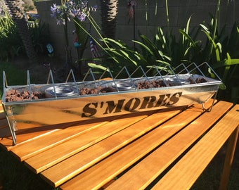 Smores Party Bar LARGE Maker Campfire Indoor Outdoor Picnic Grill Roaster Dessert BBQ