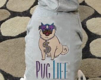 Pug Thug Life Dog Hoodie Sweatshirt
