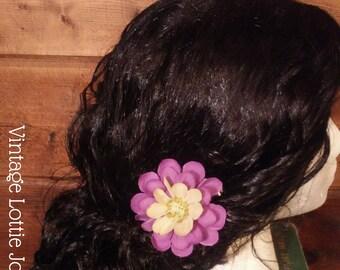 Purple and white Dahlia