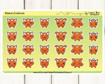 Whiskars Emoticons Functional Planner Stickers