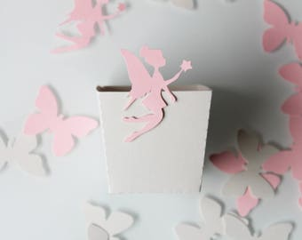 Small box, popcorn, candy, party, paper 210 gr, fairy