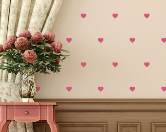 Tiny Hearts Removable Wall Decals
