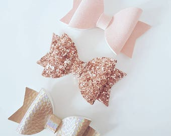 Rose gold bow set