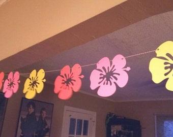 Hawaiian party banner, aloha banner, Hawaiian luau, luau  party, pineapple bunting,pig roast, tiki party,  tropical party, tropical wedding,