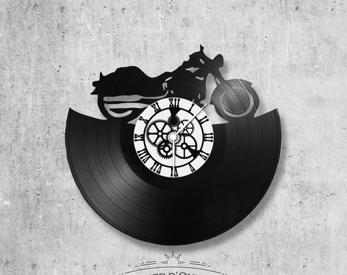 Vinyl 33 clock towers harley davidson theme
