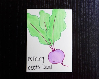 Nothing Beets Local Card w/ Envelope | Pun Card | Punny Card