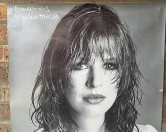 "Original 1981 23x23 Marianne Faithfull Promo Poster for ""Dangerous Acquaintances"""