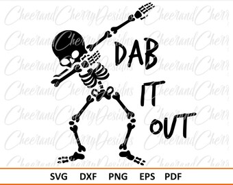 Halloween SVG file Dab Skeleton Svg Dab SVG Halloween Svg for boys Halloween EPS Dxf Dabbing Skeleton Svg Silhouette Svg for Cricut cut file