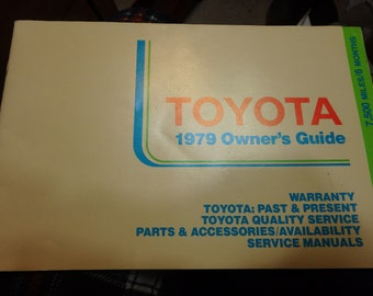 1979 Toyota Owner's guide