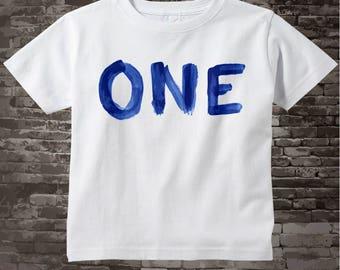 Birthday Shirt, One Year Old Birthday, Blue Birthday Shirt, Personalized Birthday Boy Design Tee or Onesie 05022014g