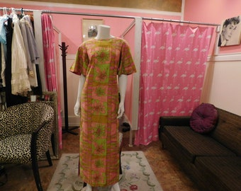 1960's Collectors item/ Stan Hicks/  Hawaiian/ Muu Muu/Maxi / Old Hawaiian/