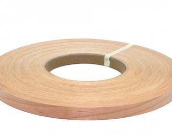 """Cherry pre glued Wood veneer edgebanding (1/2"""" to 3""""x250)"""