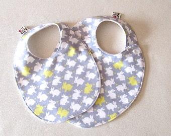 Baby Shower Gift Newborn Baby Gift Bunny bib with love heart tag Baby Bib Gender Neutral, Baby Girl Bibs, Unique Baby Gifts, Cute Baby Bibs