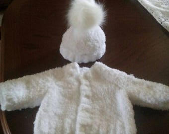 Snowflake coat and matching hat