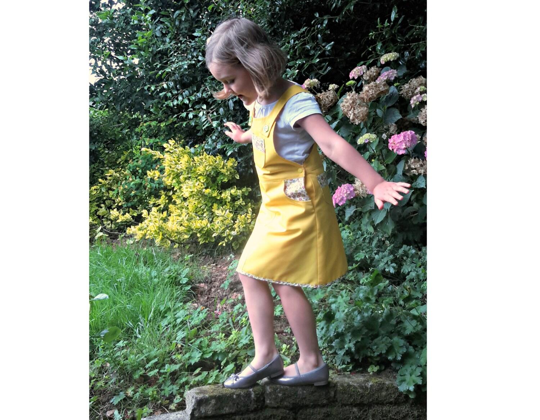 BLOOMY Girl Pinafore pattern Pdf sewing pattern, Girl Dress Skirt ...