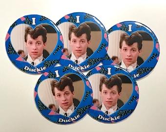 "I Love Duckie 2 1/4"" Pinback Button"