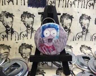 Large Marge Pee Wee's Big Adventure  original art Bottle Opener