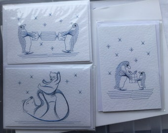 Penguins and Polar Bear cards