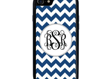 iPhone 5 5s 6 6s 6+ 6s+ 7 7+ SE iPod 5 6 Phone Case, Chevron Design, Monogram, Initials, Letters, Personalized, Plus