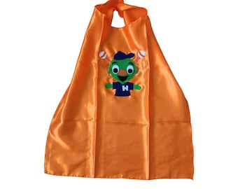 Astros Orbit Inspired - Kids Orange Cape - Children Costume - Gift