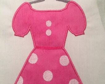 Disney Minne Dress MACHINE Applique Pattern - Inspired by Disney