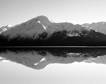 Mountain Mirror Alaska-8x10-B&W Fine Art Photo-Certificate of Authenticity-Signed by Artist