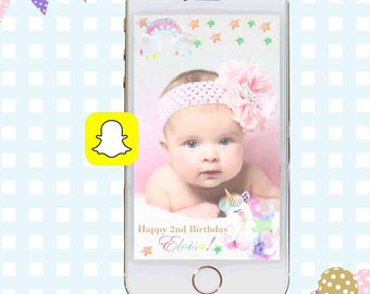 Snapchat GeoFilters, Birthday Snapchat Filters, Unicorn Snapchat Filter, Unicorn Snapchat GeoFilter, Rainbow Birthday Party Snapchat Filter