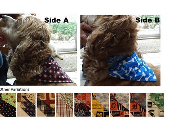 Reversible 2-in-1 Over the Collar Dog Bandana / Scarf – medium size
