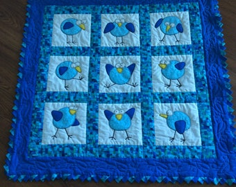 Birdy Playmat or Lap Quilt
