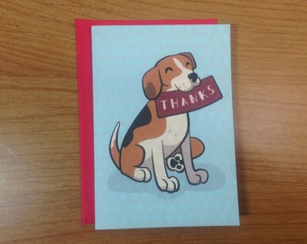 Beagle Thank You Notes.  One Card or a Set of 6 or 10.