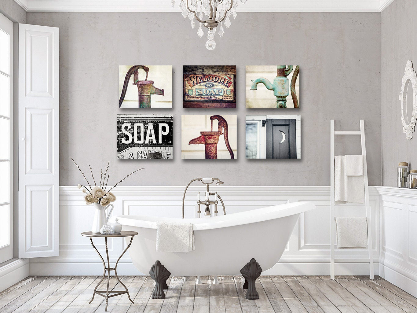 157 Curated Vintage Bathroom Light Fixtures Ideas By: Farmhouse Bathroom Decor Bathroom Wall Decor Rustic Sets For