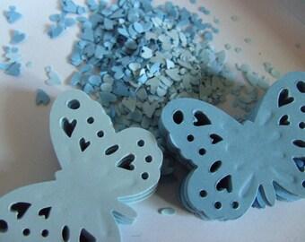 100,Blue, Paper, Butterflies, scrap booking, card making,butterfly, paper butterfly,  by DoodleDee2 on etsy