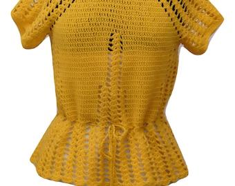 Vintage Yellow Knit Shirt