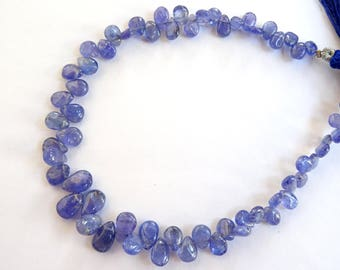 Tanzanite Smooth Pears, Tanzanite Pear Shaped Briolettes, Tanzanite Briolettes (JGBO10)