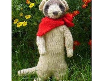 ferret meerkat PDF email knitting pattern