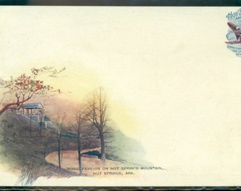 Hot Springs Arkansas Antique Music Pavilion Private Mailing Card 1898-1901 PMC