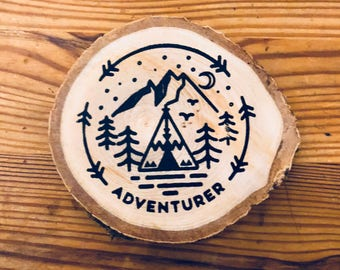 Adventurer Wooden Coaster