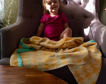 Spring Dance Crib Blanket