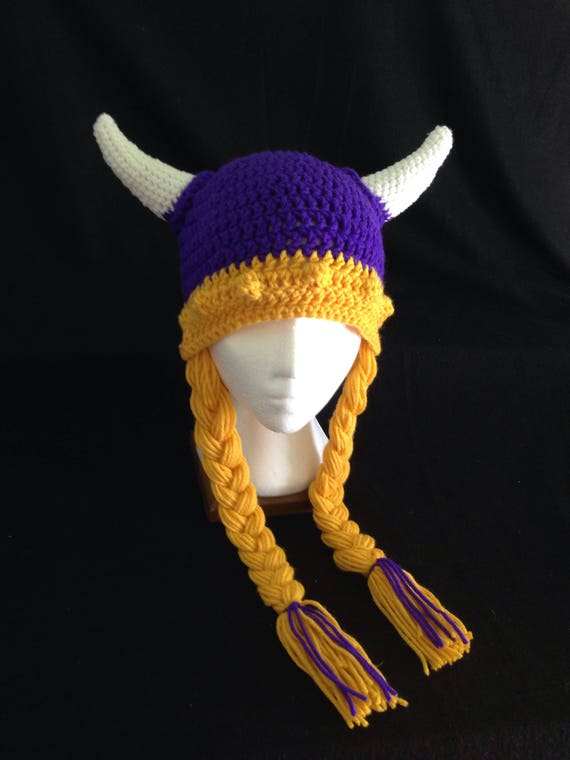 Crochet PATTERN Viking Helmet Hat Pattern Braids and