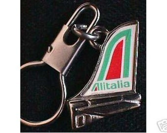 ALITALIA AIRLINE Souvenir Keychain Keyring Italy Key Ring Chain Holder SALE