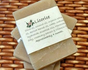 Licorice Soap Set of Four 4 oz Bars