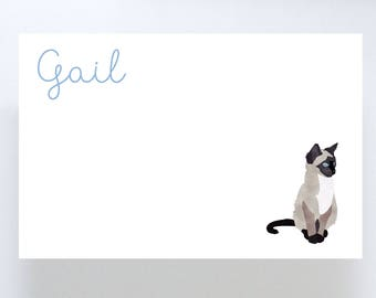 Siamese Cat Notepad // To Do List