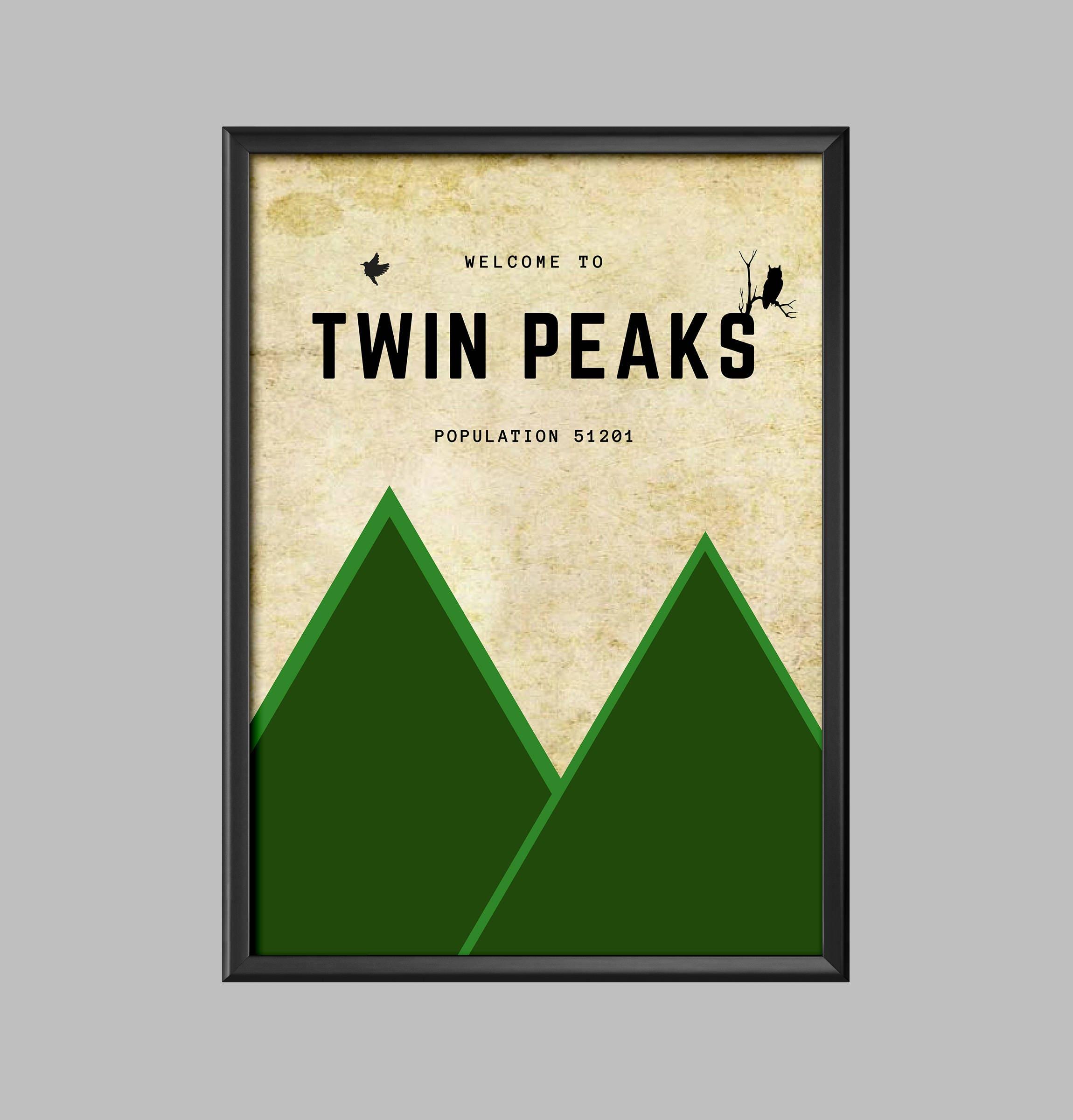 Twin Peaks Poster minimalistischen Bild Druck A4 A3 A2