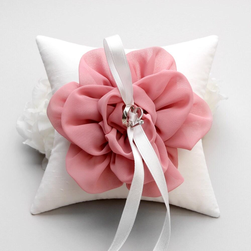 Pink ring pillow wedding ring pillow bridal ring pillow