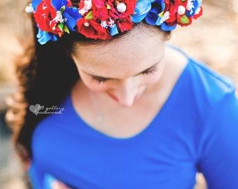 Head Wreath, Floral HeadWreath, Flower Girl Headwreath, Flower Crown, Wedding Crown, Wedding wreath, Maternity Wreath, Floral Tiara