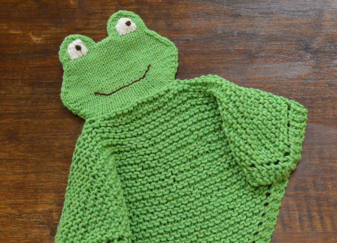 PDF Knitting Pattern FROG Security blanket lovey kp0613 from ...