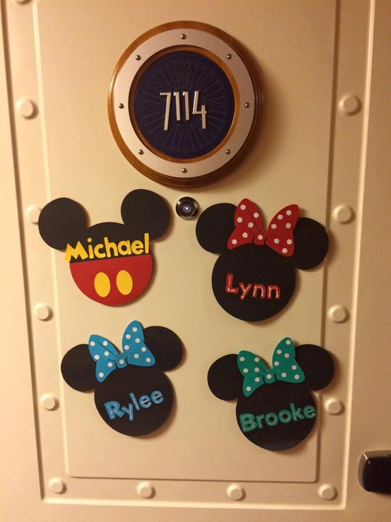 Disney Cruise Line Door Magnet // Mouse Door Magnet // Kids Door Magnet // Personalized Door Magnet // Cruise Decoration // Mickey Mouse : mouse doors - pezcame.com