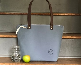 Insulated Lunch Bag | Insulated Lunch Tote | Gray Cooler Bag