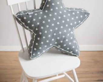 Star shaped pillow - dark gray